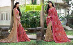 Saree Wedding Pakistani Ethnic Bollywood Sari Designer Partywear Dress Indian #TanishiFashion #DesignerSaree