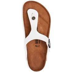 Birkenstock Women's Gizeh Birko-Flor Thong Sandals ($100) ❤ liked on Polyvore featuring shoes, sandals, toe thongs, thong sandals, birkenstock footwear, birkenstock shoes and birkenstock