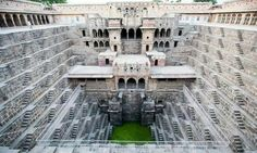 The Chand baoli near Jaipur extends almost 100ft into the ground, making it one of the deepest and largest stepwells in India. Photograph: dbimages/Alamy