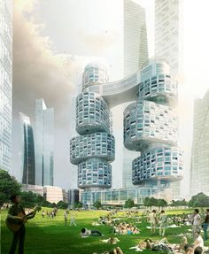 Velo Towers by Asymptote Architecture |  Yongsan ( 용산구 ) International Business District, Seoul ( 서울 ), South Korea ( 대한민국 )