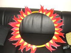 Cerceau en feu pour dompteur 2012 Decoration Cirque, School Carnival, Bat Signal, Superhero Logos, Dance, Design, Carnival, Hoop, Fire