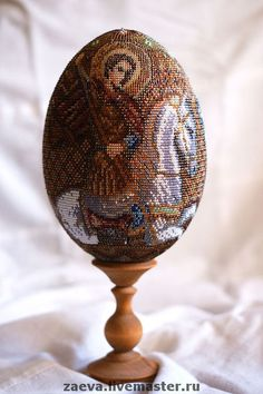 Яйца ручной работы. Ярмарка Мастеров - ручная работа. Купить Яйцо из бисера. Св.Георгий Победоносец. Handmade. Бисер, яйцо