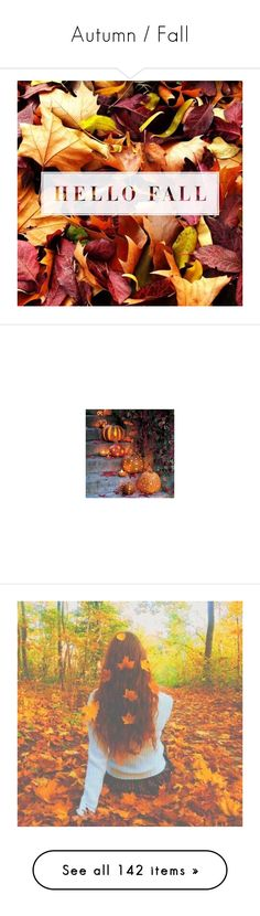 """""""Autumn / Fall"""" by laceyleanne18 ❤ liked on Polyvore featuring fall, pictures, backgrounds, autumn, photo, home, home decor, holiday decorations, halloween and halloween home decor"""