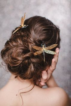 Dragonfly hairpin. Jewelry for hairstyle. Hairpins for the   Etsy