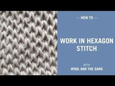 How to work in hexagon stitch - YouTube