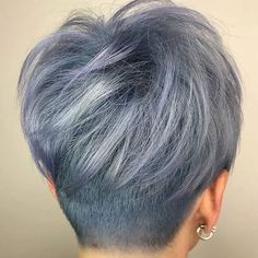 Today we have the most stylish 86 Cute Short Pixie Haircuts. We claim that you have never seen such elegant and eye-catching short hairstyles before. Pixie haircut, of course, offers a lot of options for the hair of the ladies'… Continue Reading → Short Hair Back View, Short Grey Hair, Short Hair Cuts, Pixie Back View, Grey Pixie Hair, Popular Short Hairstyles, Trending Hairstyles, Short Bob Hairstyles, Hairstyles 2018