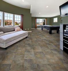Earthy Vinyl Floors For Living Room Kitchen Tiles Grey Flooring