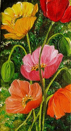 Mixed Poppies Print by KARIN KELSHALL- BEST