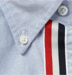 maninpink:  Grosgrain Placket Sport Shirt by Thom Browne