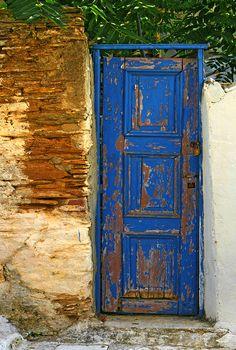 Blue door, Greece