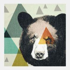 Digitaltryck multifg. m björn 40x40cm
