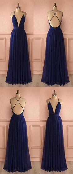 Simple prom dress,navy blue prom dress,tulle evening dress,long prom dress,fashion prom dress · meetdresse · Online Store Powered by Storenvy Dark Blue Prom Dresses, Grad Dresses Long, V Neck Prom Dresses, Blue Evening Dresses, Tulle Prom Dress, Ball Dresses, Formal Dresses, Formal Wear, Dress Long