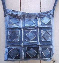 Резултат слика за Sew tote bag from recycled denim and upholstery