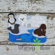 Arctic Felt Playset ITH Embroidery Design by WhimsyWillowEmb