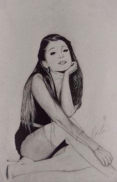 My drawing of Ariana Grande.
