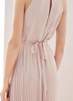Vestido largo plisado - Vestidos | Adolfo Dominguez shop online