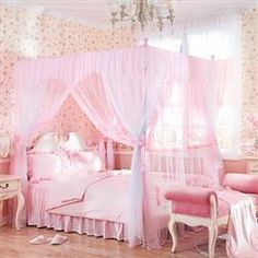 Wholesale Household Rose Flower 4 Poster Bed Canopy & Bed Poster One Set - DinoDirect.com