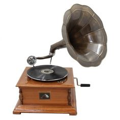 Substitute for the Museum's Gramophone: Antique Replica RCA Victor Phonograph Gramophone (non-operational) $134.85 inc. shipping