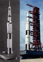 """Die Mond-Rakete """"Saturn V"""""""