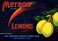 Meteor Lemons. Lemon labels are a favorite.