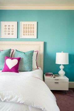 Teen bedroom colors new room same furniture adding new paint and accessories can transform a space Teen Bedroom Colors, Room Decor For Teen Girls, Trendy Bedroom, Girls Bedroom, Bedroom Neutral, Teal Teen Bedrooms, Small Bedroom Paint Colors, Teenage Room, Master Bedrooms