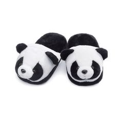 Panda Slippers (43.760 COP) ❤ liked on Polyvore featuring shoes, slippers, pajamas, pijamas and panda