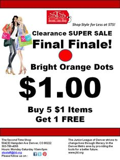 Super Awesome Sale! $1 Clearance and Buy  Five $1 items and get One FREE!
