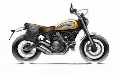 Customized Ducati Scrambler Classic. Don't miss the unveiling of the Scrambler Apparel and accessories World, tomorrow at 06:00 pm (CET) at www.scramblerducati.com!