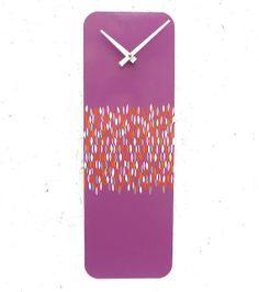 Purple Pink Orange White and Magenta Wall Clock by eightyacresart, $72.00