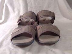 18.49$  Buy now - http://viyez.justgood.pw/vig/item.php?t=svk9tx92036 - Ryka Sz 11 W Gray Sandal Slides VGC CUTE
