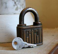 Vintage Fraim American Made Padlock with by AmericanVintageFare & Yale Padlocks Keys Locks Yale 1919 Tools Catalog Ad Hardware   Key ...