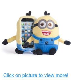 iPlush Despicable Me Yellow Minion Plush Toy CellPhone Case (iPhone 5 5s 5C iTouch 5, Two Eye)