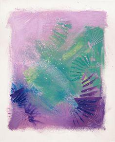 canvas, aurora, morning, pastel,  acrylic, pink, violet, lila,