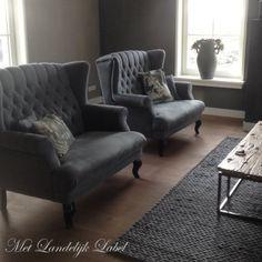 Fauteuil met gecapitonneerde rugleuning gezocht? Bij Met Landelijk Label in Borne vindt u prachtige, landelijke fauteuils in veel stoffen en kleuren.