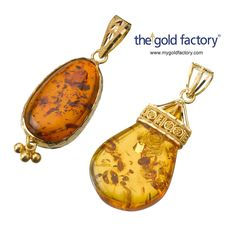 """""""Amazing Amber Pendant - only from the gold factory"""""""