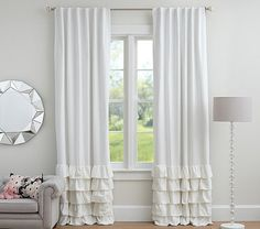 Pair Ruffles Bottom Panels Curtains 52'' choose by TheNewHome