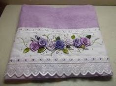 Resultado de imagem para toalhas de banho bordadas