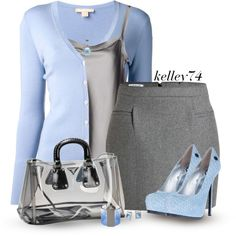 Grey & Blue, created by kelley74 on Polyvore
