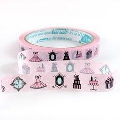 Deco Tape Adhesive Stickers - Paris Dress Fashion Decor DT8 on Etsy, $2.20