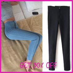 Slim Jeans For Women Skinny High Waist Jeans Woman Blue Denim Pencil Pants  Stretch Waist Women d01674f641