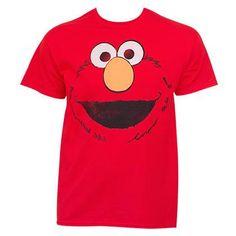 ef8cdb80 Sesame Street Elmo Face Shirt 3rd Birthday Parties, 2nd Birthday, Street  Outfit, Cotton