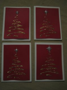 Easy Christmas Card Idea for Pathfinders Christmas Shows, Simple Christmas, Christmas Art, Christmas Decorations, Holiday Crafts, Holiday Ideas, Scrapbook Paper Crafts, Scrapbooking, Crafty Kids