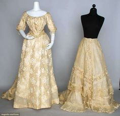 Two Belle Epoque Cream Garments, Augusta Auctions, November 13, 2013 - NYC, Lot 319