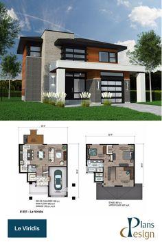 Modern home design Contemporary House Plans, Modern House Plans, Small House Plans, Bungalow House Design, Modern House Design, Cottage Floor Plans, House Floor Plans, Architectural Design House Plans, Architecture Design