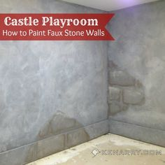 Castle Playroom Walls: How to Paint Faux Stone Walls - Kenarry.com