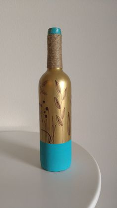 Check out this item in my Etsy shop https://www.etsy.com/listing/468443512/hand-painted-wine-bottles-acrylic-paint