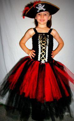 Pirate Queen tutu dress costume by GlitterprincessGalor on Etsy, $35.00