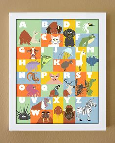 Alphabet poster 11 x 14 animal alphabet by BarnstormerArtworks, $15.00