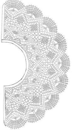 My Michelle Printed Spaghetti Crochet - Ufrock Crochet Collar Pattern, Crochet Lace Collar, Crochet Motif, Crochet Designs, Crochet Stitches, Crochet Patterns, Top Pattern, Crochet Cape, Crochet Shawl
