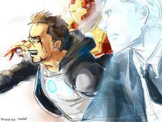 Tony Stark, Iron Man, JARVIS fan art I really like this. Avengers Art, Marvel Art, Marvel Dc Comics, Stony Avengers, Marvel Images, Marvel Characters, Marvel Movies, X Men, Die Rächer
